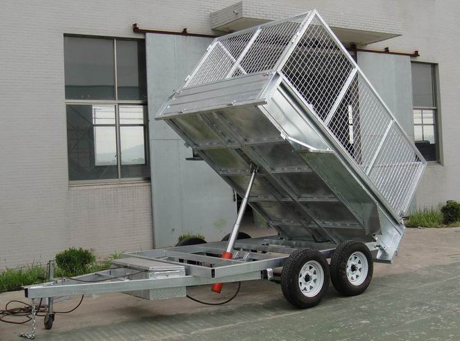 Economic hydraulic agricultural trailer tipping trailer trailer sale