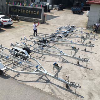 Gather High Precision Wholesale Galvanized Boat Trailer