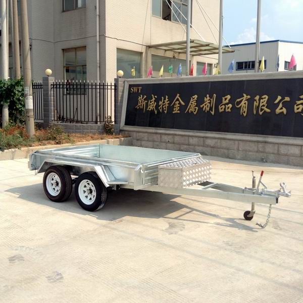 Hot dip galvanized 10x5 Tandem trailer
